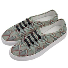 Art Deco Teal Brown Women s Classic Low Top Sneakers by 8fugoso