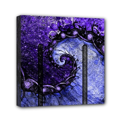 Beautiful Violet Spiral For Nocturne Of Scorpio Mini Canvas 6  X 6  by jayaprime