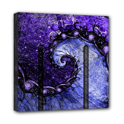 Beautiful Violet Spiral For Nocturne Of Scorpio Mini Canvas 8  X 8  by jayaprime