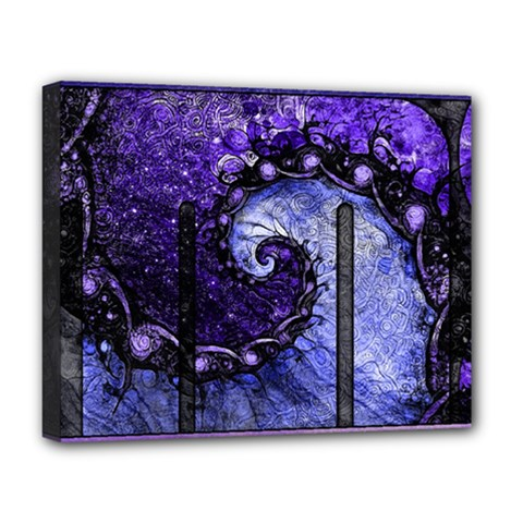 Beautiful Violet Spiral For Nocturne Of Scorpio Deluxe Canvas 20  X 16   by jayaprime