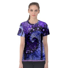 Beautiful Violet Spiral For Nocturne Of Scorpio Women s Sport Mesh Tee by jayaprime
