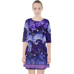 Beautiful Violet Spiral For Nocturne Of Scorpio Pocket Dress by jayaprime