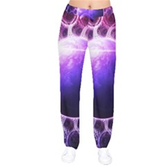 Beautiful Violet Nasa Deep Dream Fractal Mandala Drawstring Pants by jayaprime