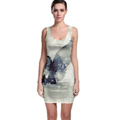 Cute Owl In Watercolor Bodycon Dress by FantasyWorld7