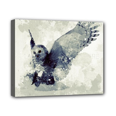Cute Owl In Watercolor Canvas 10  X 8  by FantasyWorld7