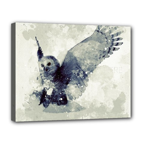 Cute Owl In Watercolor Canvas 14  X 11  by FantasyWorld7