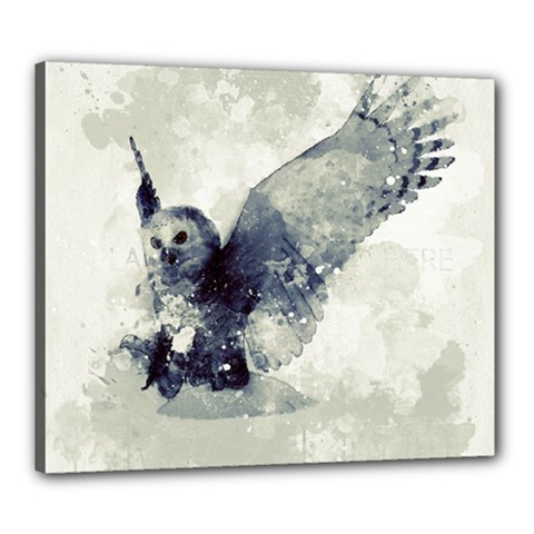 Cute Owl In Watercolor Canvas 24  X 20  by FantasyWorld7
