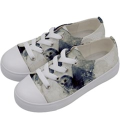 Cute Owl In Watercolor Kids  Low Top Canvas Sneakers by FantasyWorld7