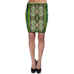 Bread Sticks And Fantasy Flowers In A Rainbow Bodycon Skirt