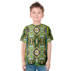 Bread Sticks And Fantasy Flowers In A Rainbow Kids  Cotton Tee