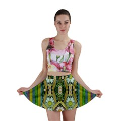 Bread Sticks And Fantasy Flowers In A Rainbow Mini Skirt