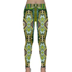 Bread Sticks And Fantasy Flowers In A Rainbow Classic Yoga Leggings