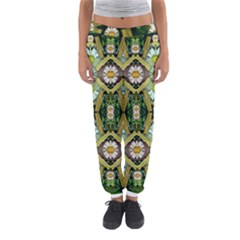 Bread Sticks And Fantasy Flowers In A Rainbow Women s Jogger Sweatpants