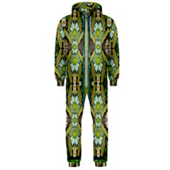 Bread Sticks And Fantasy Flowers In A Rainbow Hooded Jumpsuit (Men)