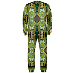 Bread Sticks And Fantasy Flowers In A Rainbow OnePiece Jumpsuit (Men)