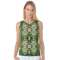 Bread Sticks And Fantasy Flowers In A Rainbow Women s Basketball Tank Top