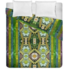 Bread Sticks And Fantasy Flowers In A Rainbow Duvet Cover Double Side (California King Size)