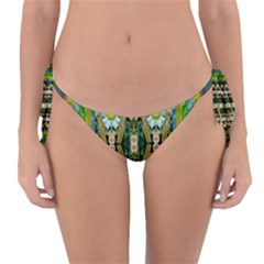 Bread Sticks And Fantasy Flowers In A Rainbow Reversible Bikini Bottom