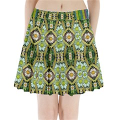 Bread Sticks And Fantasy Flowers In A Rainbow Pleated Mini Skirt