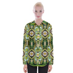 Bread Sticks And Fantasy Flowers In A Rainbow Womens Long Sleeve Shirt