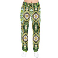 Bread Sticks And Fantasy Flowers In A Rainbow Drawstring Pants