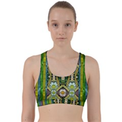 Bread Sticks And Fantasy Flowers In A Rainbow Back Weave Sports Bra