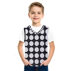 Circles1 Black Marble & White Leather (r) Kids  Sportswear