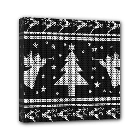 Ugly Christmas Sweater Mini Canvas 6  X 6  by Valentinaart