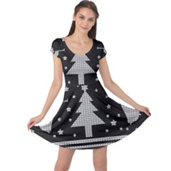 Ugly Christmas Sweater Cap Sleeve Dress