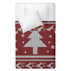 Ugly Christmas Sweater Duvet Cover Double Side (single Size) by Valentinaart