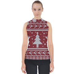 Ugly Christmas Sweater Shell Top by Valentinaart