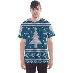 Ugly Christmas Sweater Men s Sports Mesh Tee