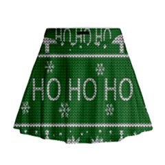 Ugly Christmas Sweater Mini Flare Skirt by Valentinaart