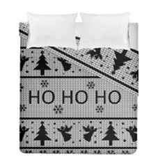 Ugly Christmas Sweater Duvet Cover Double Side (full/ Double Size) by Valentinaart