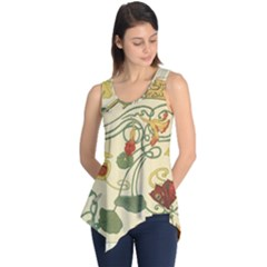 Floral Art Nouveau Sleeveless Tunic by 8fugoso