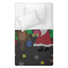 Ugly Christmas Sweater Duvet Cover (single Size) by Valentinaart