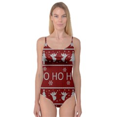 Ugly Christmas Sweater Camisole Leotard  by Valentinaart