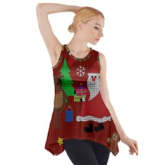 Ugly Christmas Sweater Side Drop Tank Tunic