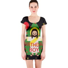 Jesus   Christmas Short Sleeve Bodycon Dress