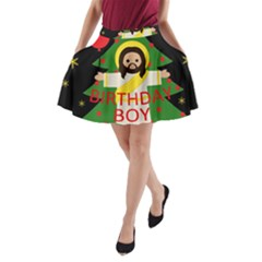 Jesus   Christmas A Line Pocket Skirt by Valentinaart