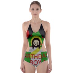 Jesus   Christmas Cut Out One Piece Swimsuit