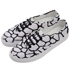 Skin1 Black Marble & White Leather (r) Women s Classic Low Top Sneakers by trendistuff