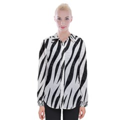 Skin3 Black Marble & White Leather Womens Long Sleeve Shirt by trendistuff