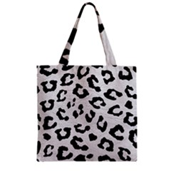 Skin5 Black Marble & White Leather (r) Zipper Grocery Tote Bag by trendistuff