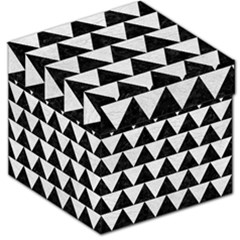 Triangle2 Black Marble & White Leather Storage Stool 12   by trendistuff
