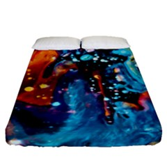 Abstract Acryl Art Fitted Sheet (queen Size) by tarastyle