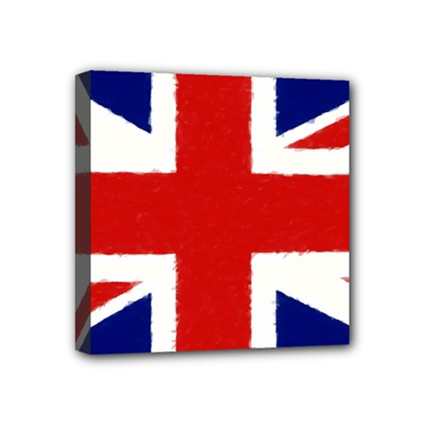 Union Jack Pencil Art Mini Canvas 4  X 4  by picsaspassion