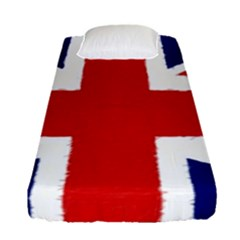 Union Jack Pencil Art Fitted Sheet (single Size) by picsaspassion