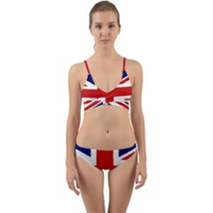 Union Jack Pencil Art Wrap Around Bikini Set by picsaspassion