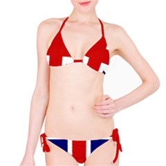 Union Jack Watercolor Drawing Art Bikini Set by picsaspassion
